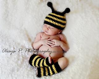 Bumble Bee Baby Leg Warmers