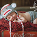Sock monkey hat and diaper cover pattern