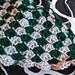 Checkered Slytherin Sidewinder Scarf pattern