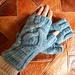 Amadare fingerless mitts pattern