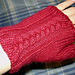 Braided Cable Fingerless Gloves pattern