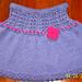 Baby Mia Short Skirt in Double Eyelet Rib Pattern pattern