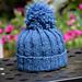 Baby Rib Hat With Pom Pom pattern