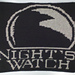 Night's Watch banner (Game of Thrones) pattern
