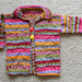 Coat of Many Colors baby sweater pattern