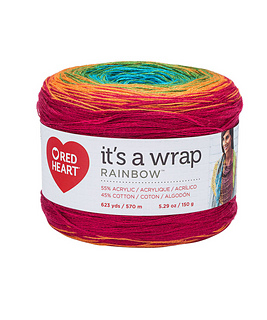 E895-9856 Red Heart Yarn Roly Poly-Rainbow