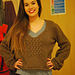 Large-scale Herringbone Pullover pattern