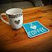 I Love Coffee Coaster pattern