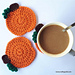 halloween pumpkin coaster pattern