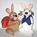 Backpacking Bunny & White Rabbit pattern