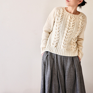 Tsubaki Pullover pattern by Hiroko Fukatsu