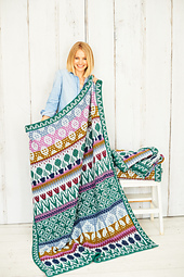 Country Garden -  medium blanket