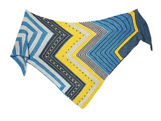Shawl Tuch POTZBLITZ pattern by Steffi Hochfellner
