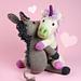 Unicorn + Donkey / Einhorn + Esel pattern