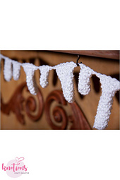Sparking Icicles Bunting Pattern by Ruth Haydock