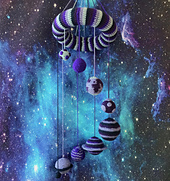 Solar System Mobile Crochet Pattern by Ruth Haydock