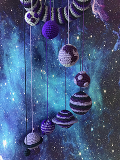 Solar System Mobile Crochet Pattern by Ruth Haydock