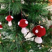 Mushroom Tree Decoration by Ruth Haydock
