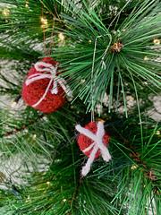 Christmas Present Tree Decoration by Ruth Haydock