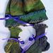 Scallops and Ribbing Baby Cap and Socks pattern