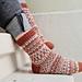 Scandinavian socks pattern