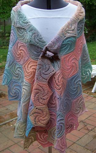 Swirl shawl
