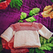 French Letter Baby Sweater pattern