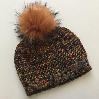 double thick brim with a pompom