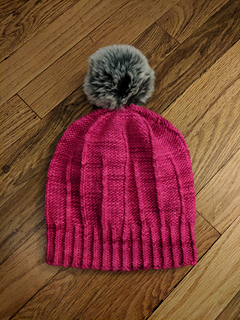purl side out with a pompom!