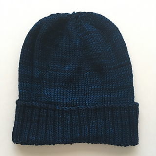 knit side out with a folded brim