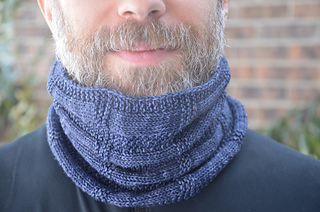RS of fingering weight piece, styled as a cowl