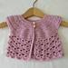 Lace Baby Cardigan pattern