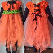 Cute Kids Pumpkin Tutu Costume for Halloween - Crochet Pattern DIY