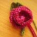 Simple Knitted Rose & Leaf pattern