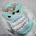 245 Owl Cocoon Set pattern