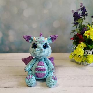 Ravelry: Fierce Little Dragon pattern by Lucy Collin | 320x320