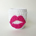 Lips & Kisses Applique and Cozy / Koozie pattern