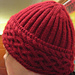 Celtic braid hat to match sweater vest pattern