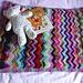 Zig and Zag Sock Yarn pram baby blanket pattern