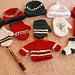 Mini Hat and Mitten Ornaments pattern