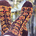 Mabon Leaves Socks pattern