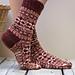 Bark Cloth Socks pattern