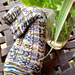 Rock Lobster Toe-up Sock pattern