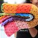 Rainbow Blanket w Slant Stitch pattern