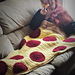 Pizza By the Slice Blanket pattern