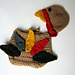 November Baby Turkey Hat and Diaper Cover with Feathers pattern