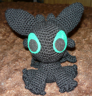 Amigurumi pattern for dragon, Toothless crochet pattern, Night ... | 320x305