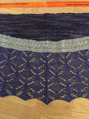 The finished shawl is ready to gift.