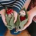 Toadstool Doll & Leaf Set pattern