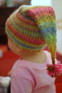 This pattern can be modified by skipping the ear flaps and doing a ribbed brim.